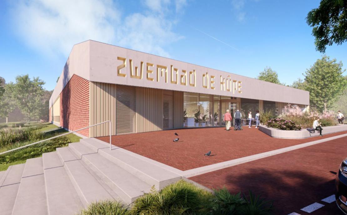 Zwembad 'De Kûpe' Buitenpost nieuwbouw